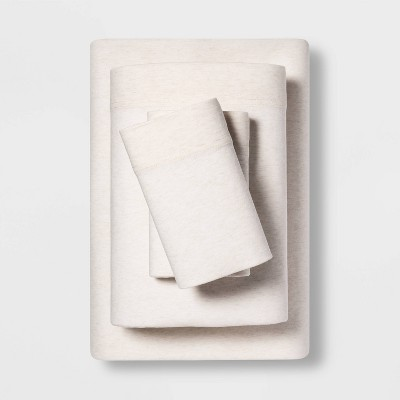 Queen Tencel Jersey Blend Sheet Set Beige - Project 62™ + Nate Berkus™