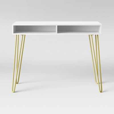 Hair Pin Writing Desk White - Room Essentials™