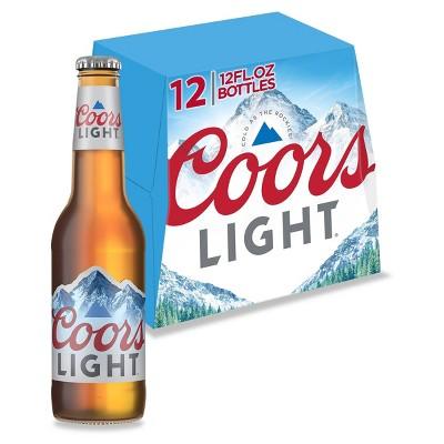 Coors Light Beer - 12pk/12 fl oz Bottles