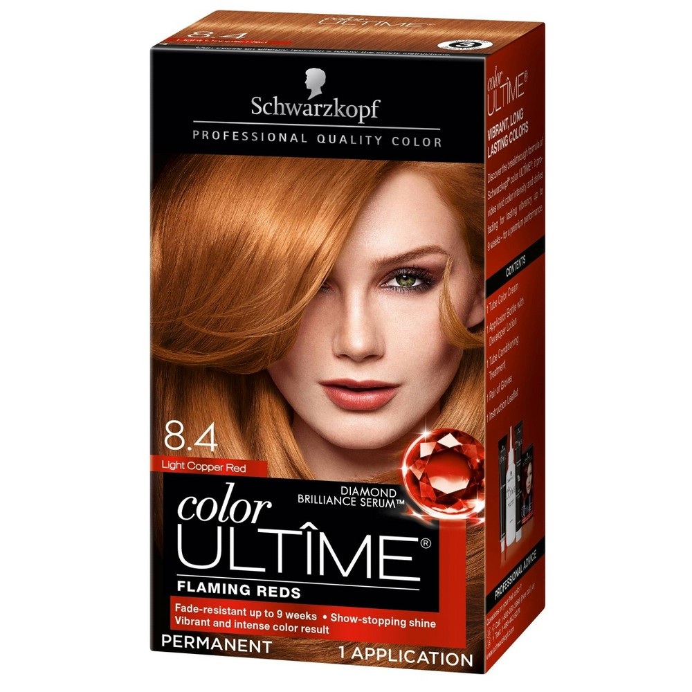 Image of Schwarzkopf Color Ultime Flaming Reds Hair Color 8.4 Light Copper Red - 2.03 fl oz