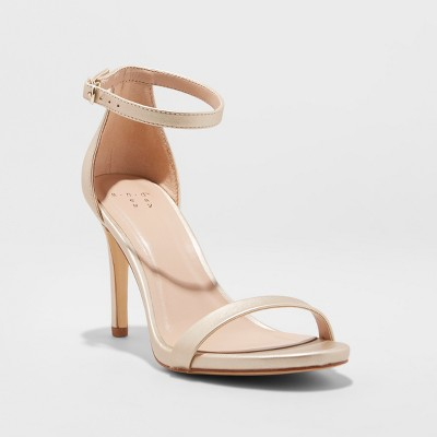 Women's Gillie Microsuede Stiletto Heeled Pump Sandals - A New Day™