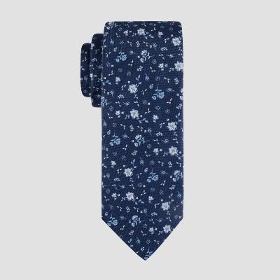 Men's Mina Floral Print Tie - Goodfellow & Co™ Navy One Size