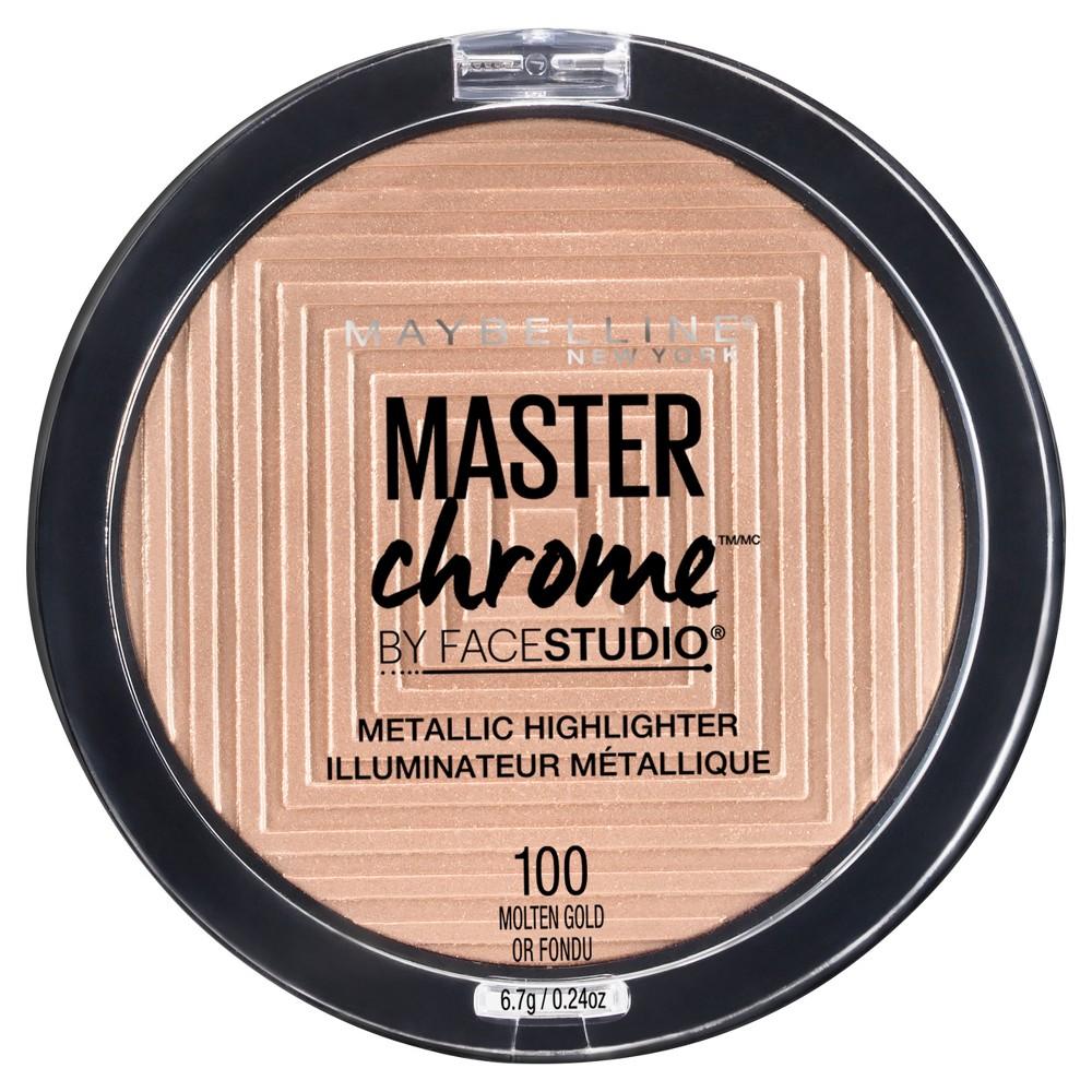 Maybelline Face Studio Master Chrome Metallic Highlighter 100 Molten Gold - 0.24oz