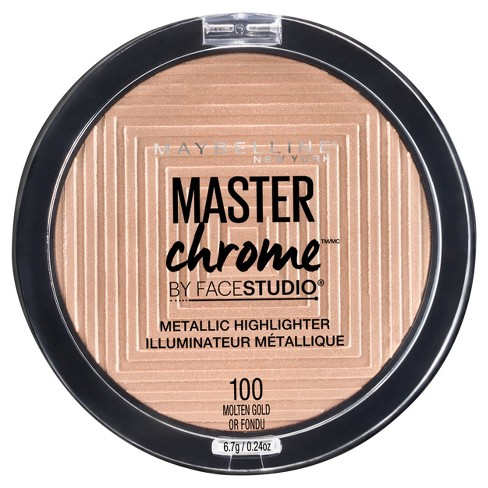 Maybelline Face Studio Master Chrome Metallic Highlighter 100 Molten Gold - 0.24oz - image 1 of 3