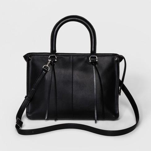 Women s Satchel Handbag With Crossbody Strap And Tassel Hangoff - Universal  Thread™ dfad529569bcb