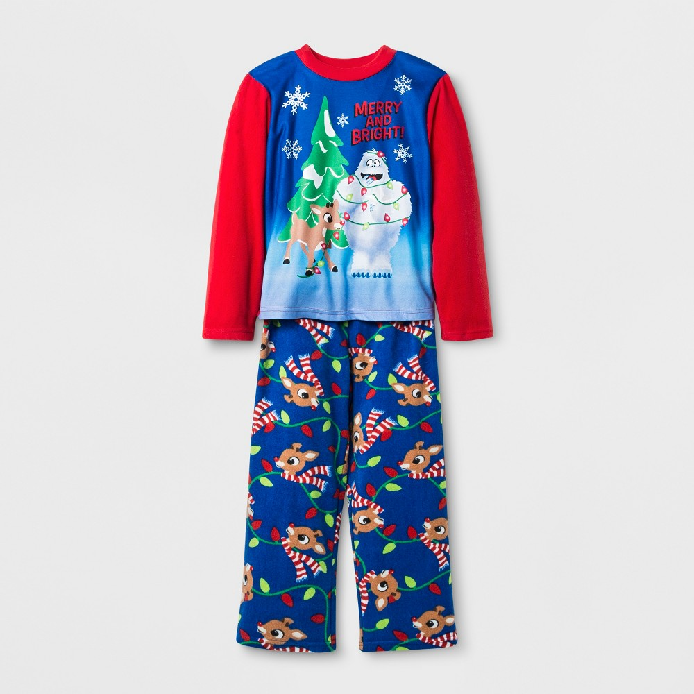 Boys' Rudolph the Red-Nosed Reindeer 2pc Pajama Set - Red/Navy 6