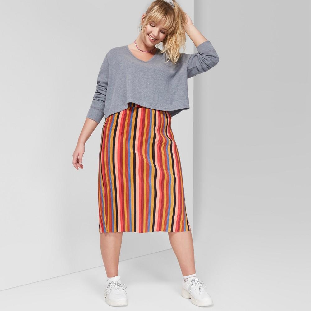 Women's Plus Size Long Sleeve Waffle Boxy T-Shirt - Wild Fable Heather Gray 2X