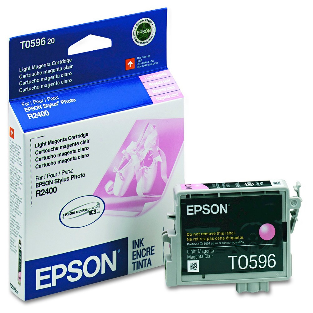 Epson 59 Single Ink Cartridge - Light Magenta (EPST059620) Brilliant color is delivered with the Epson UltraChrome K3 Inkjet Cartridge - Magenta (EPST059620). The Epson printer ink works with high-volume print jobs to deliver consistent color on your professional and home-based print jobs. The printer ink cartridge is compatible with the Epson Stylus Photo R2400. Color: Light Magenta.