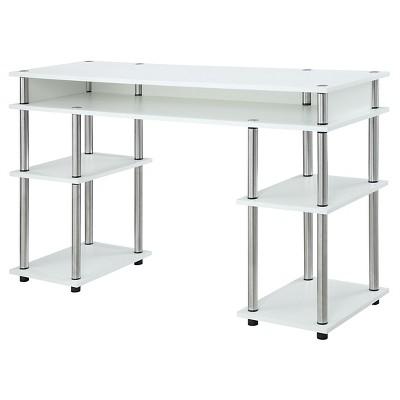 No Tools Student Desk White - Breighton Home