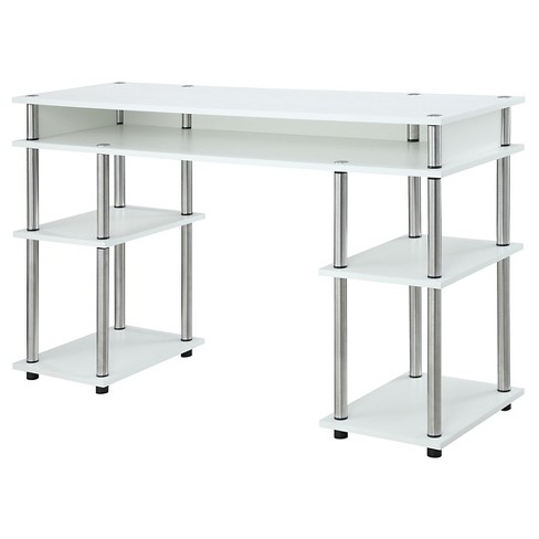 No Tools Student Desk - White - Convenience Concepts - image 1 of 3