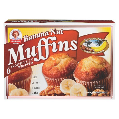Little Debbie Banana Nut Muffins 6 ct - image 1 of 1