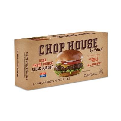 Chop House by Holten Prime Chuck Steak Burgers - Frozen - 2lbs/6ct