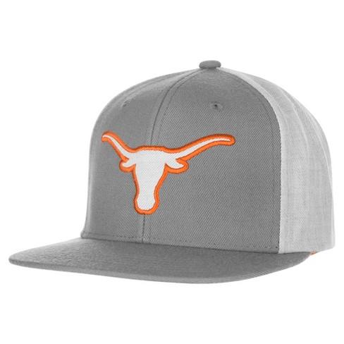 NCAA Men s Texas Longhorns Gray Malibu Flat Bill Hat   Target 26bcfef88b1c