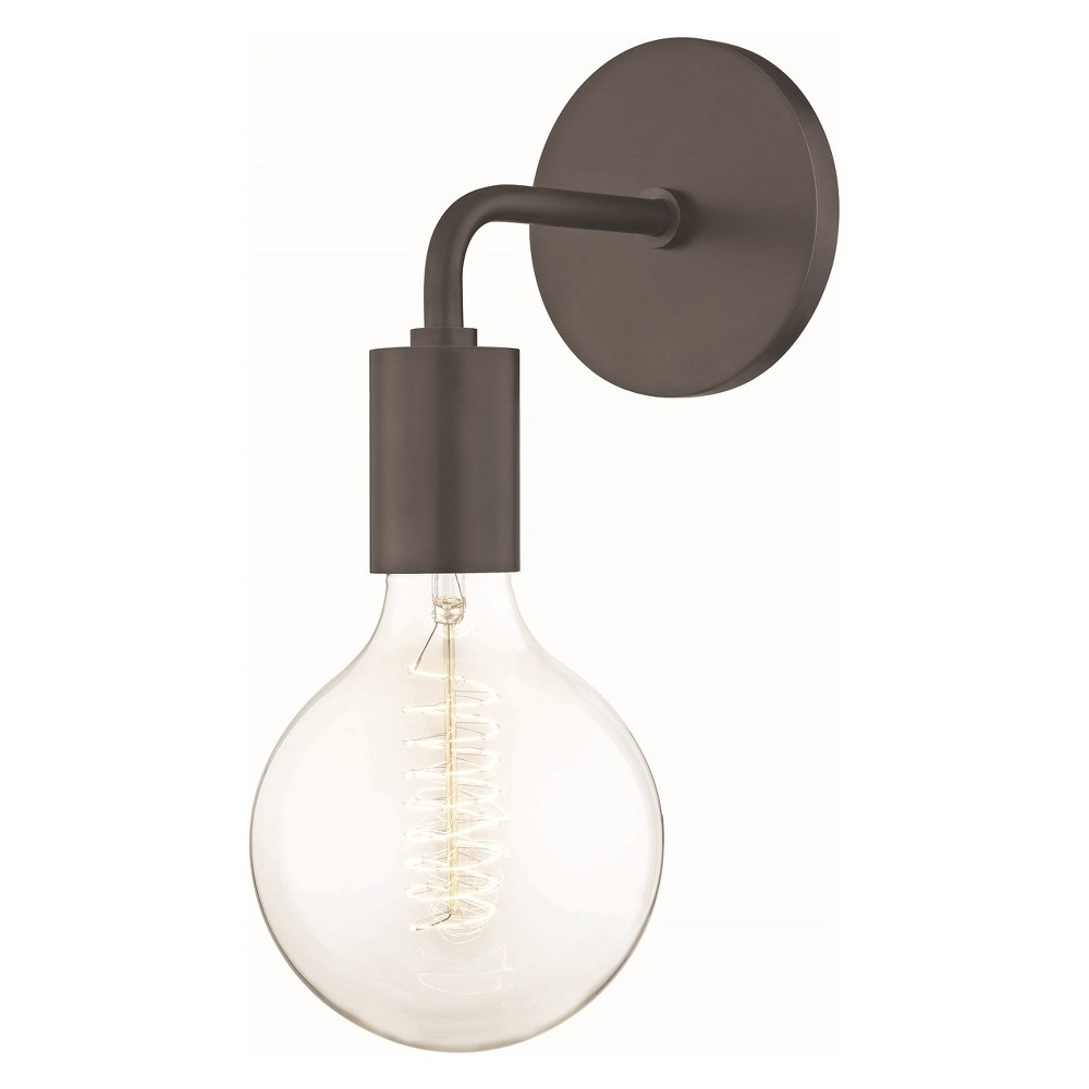 Image of 1 Style B Ava Light Wall Sconce Bronze (Includes Energy Efficient Light Bulb) - Mitzi by Hudson Valley Lighting