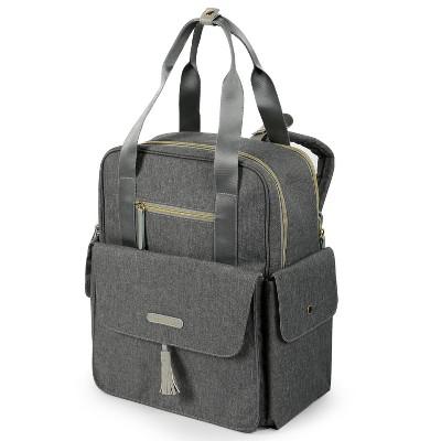 Dabney Lee Harbor Expandable Backpack Diaper Bag - Dark Gray