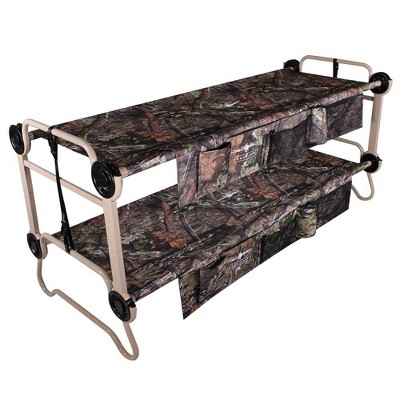 Disc-O-Bed XL Cam-O-Bunk Benchable Bunked Mossy Oak Double Cot w/ Organizers