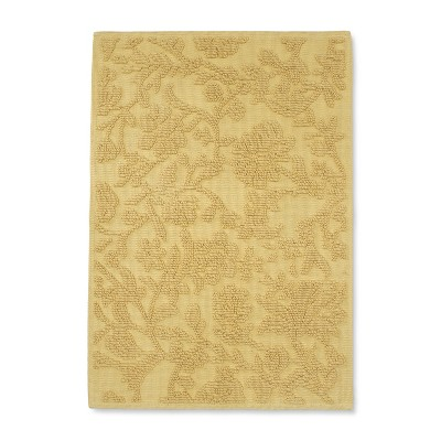 Floral Bath Mat Accent New Wheat - Threshold™