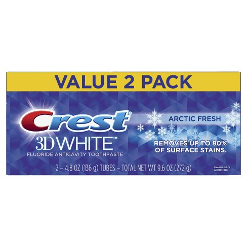 Crest 3D White Arctic Fresh Whitening Toothpaste Icy Cool Mint - 4.8oz (Pack of 2) - image 1 of 5