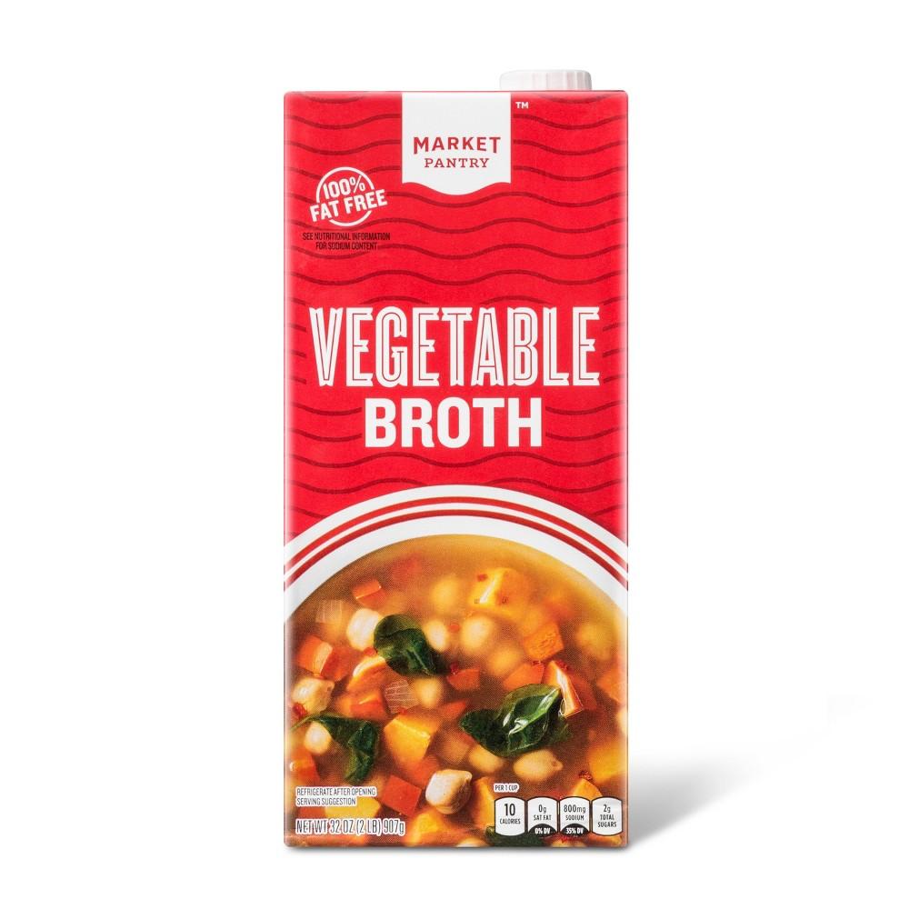 Vegetable Broth 32 oz - Market Pantry