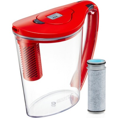 Brita Stream Hydro Filter as You Pour Water Pitcher 10 Cup - Red