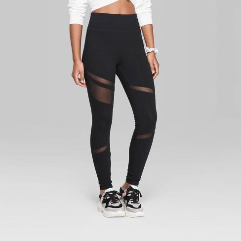 8d3bf4b39916b Women's High-Rise Mesh Insert Leggings - Wild Fable™ Black : Target