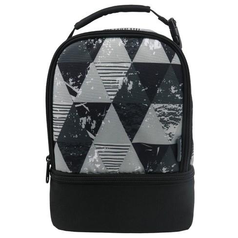 Ipack Dual Lunch Bag Gray Geo