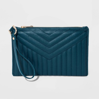 Large Pouch Wristlet - A New Day™ Blue
