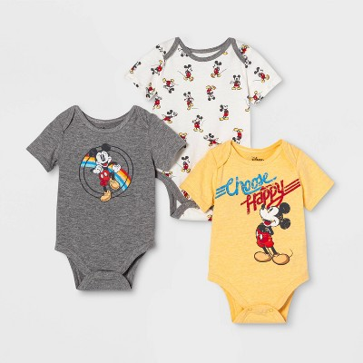 Baby Boys' 3pk Mickey Bodysuits Newborn