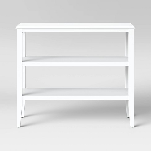 Pelham 2 Shelf Console Table White - Threshold™ - image 1 of 4