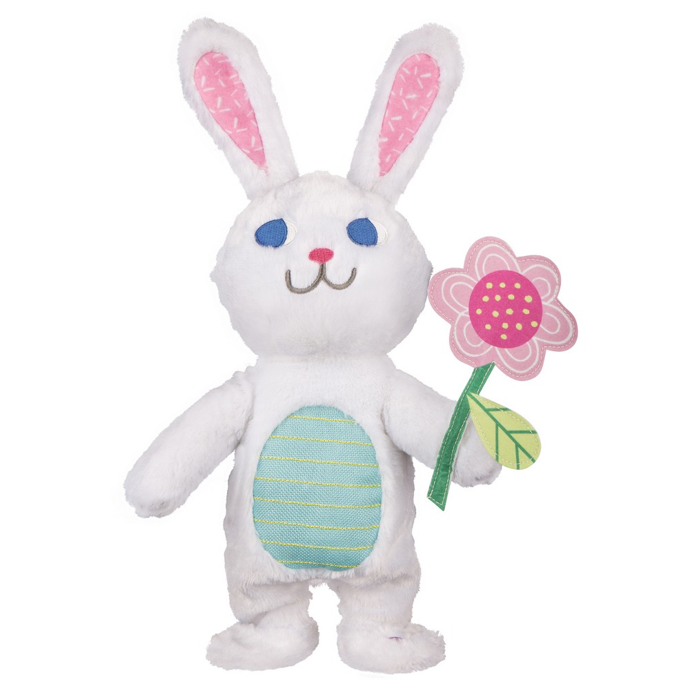 Easter 15'' Animated Happy Shuffle Bunny with Flower - Spritz, Multi-Colored
