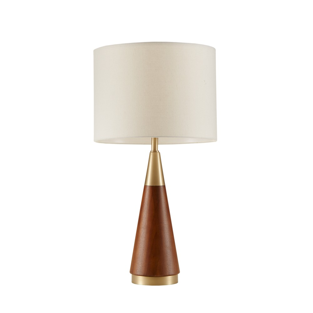 """Image of """"13.5"""""""" x 26"""""""" Chrislie Table Lamp (Includes Energy Efficient Light Bulb) Gold/Brown"""""""