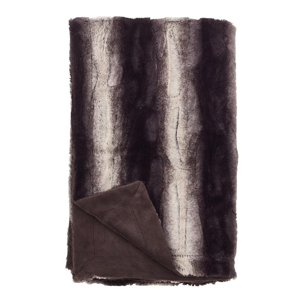 Throw Blankets Saro Lifestyle 50X60 Inches Black Ember Heather