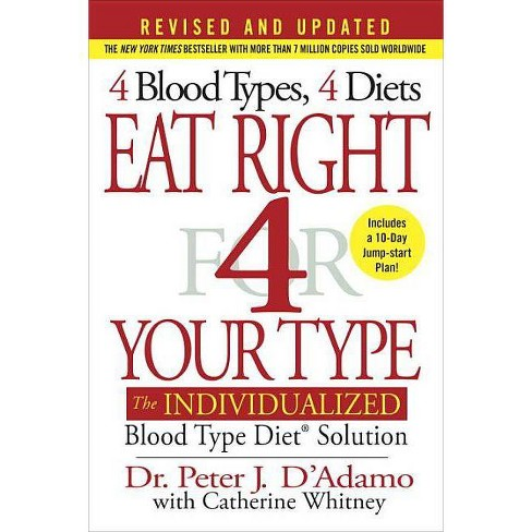 Eat Right 4 Your Type - by  Peter J D'Adamo & Catherine Whitney (Hardcover) - image 1 of 1