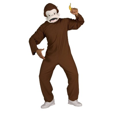 Adult Curious George Standard Halloween Costume One Size
