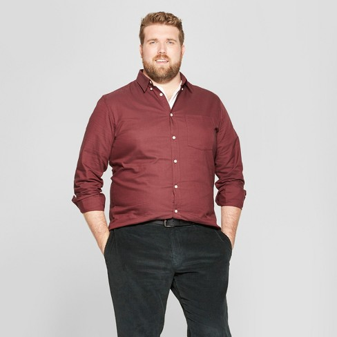 9b28c8b3 Men's Big & Tall Standard Fit Whittier Oxford Brushed Long Sleeve Collared  Button-Down Shirt - Goodfellow & Co™