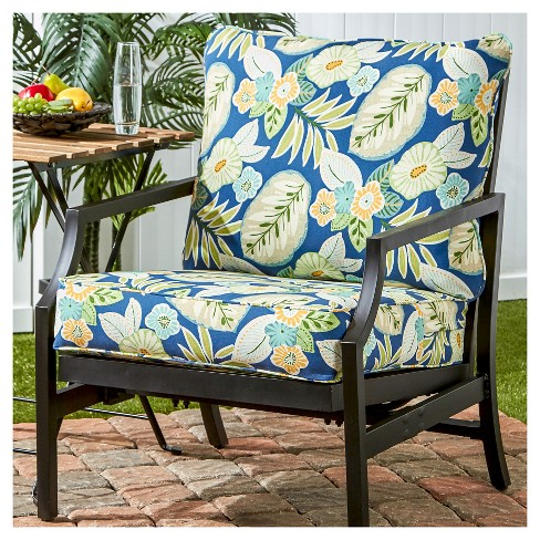 2pc Marlow Floral Outdoor Deep Seat Cushion Set Greendale Home
