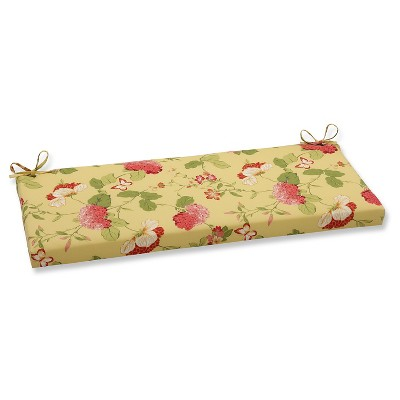 Outdoor Bench Cushion - Yellow/Red Floral