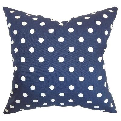 Polka Dot Throw Pillow Blue (18 x18 )- The Pillow Collection
