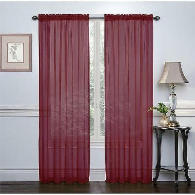 GoodGram 2 Pack: Elegant Sheer Voile Curtain Panels
