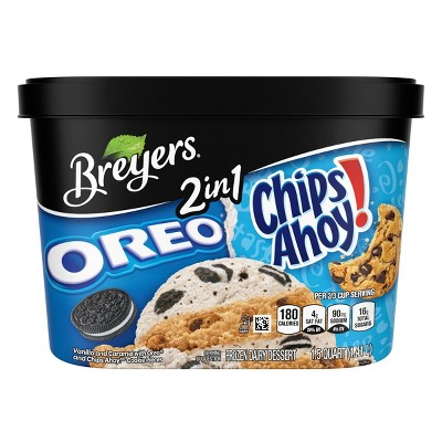Breyers Oreo Chips Ahoy! 2in1 Ice Cream - 48oz