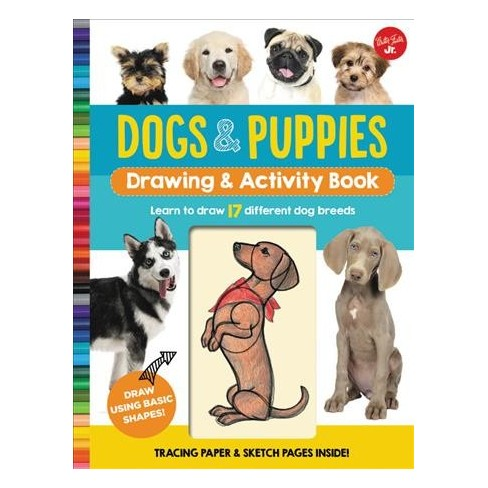 dogs puppies drawing activity book learn to draw 17 different
