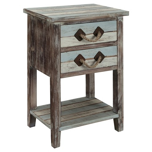 Nautical Two Drawer Accent Table - Multicolored - Christopher Knight Home - image 1 of 3