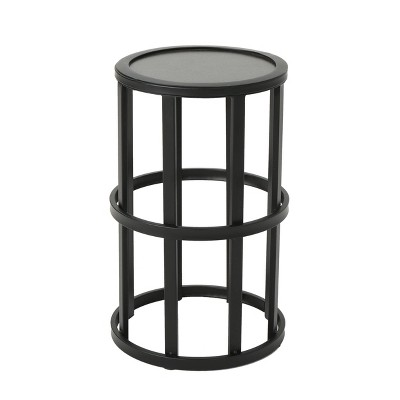 Aaleah Industrial Ceramic Tile Side Table Gray - Christopher Knight Home