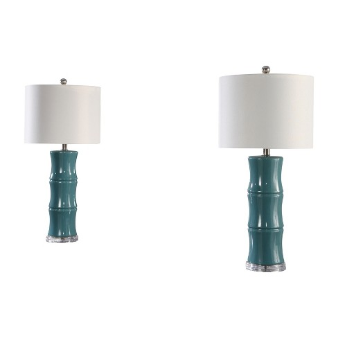 Set of 2 Katrina Ceramic Table Lamps Blue (Lamp Only) - Abbyson Living - image 1 of 4