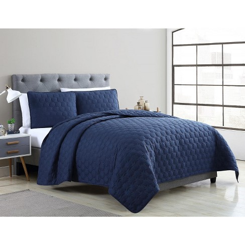VCNY Home Maxwell Solid Pinsonic Quilt Set - image 1 of 4