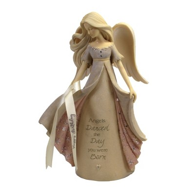 "Foundations 7.5"" Birthday Angel Dance The Day Born  -  Decorative Figurines"