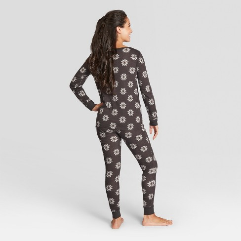 e727dd5bd9 Women s Fair Isle Holiday Pajama Set - Gray XS -...   Target