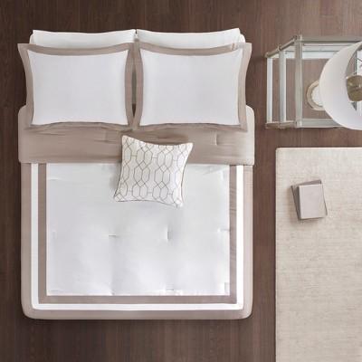 4pc Full/Queen Floyd Comforter Set Tan