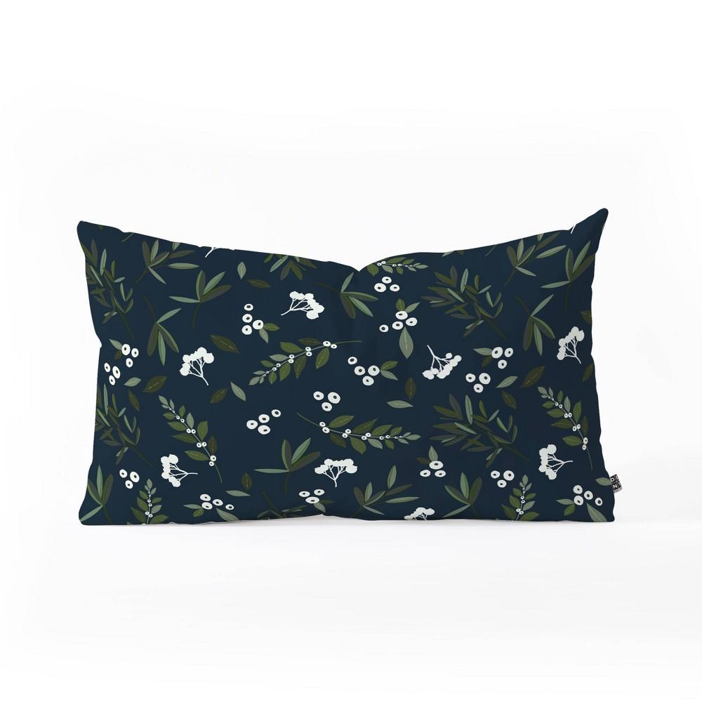 14 34 X23 34 Oversize Iveta Abolina Nordic Lumbar Throw Pillow Olive Blue Deny Designs