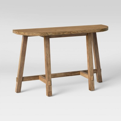 Rounded Wood Console Table Brown - Threshold™